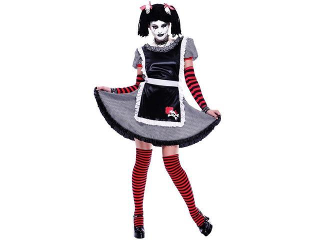 Gothic Rag Doll Punk Rock Costume Adult Small