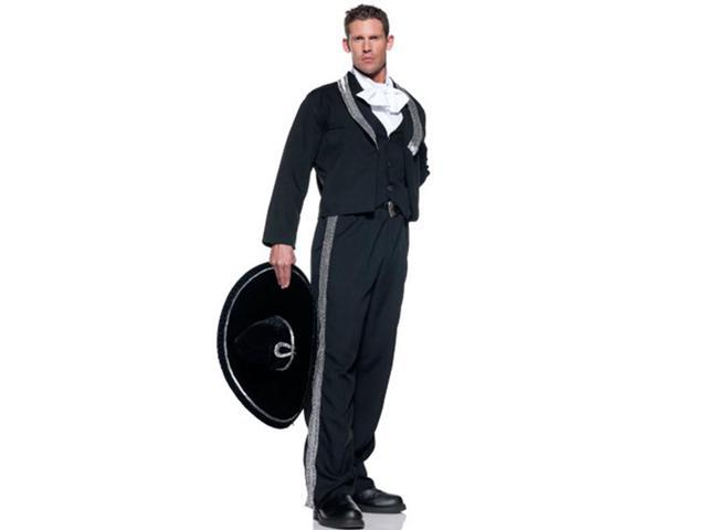 Mexican Mariachi Man Adult Costume & Hat Set Standard