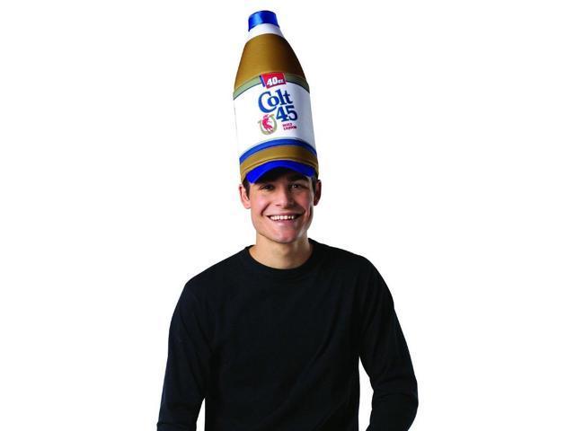 Colt 45 40 oz Bottle Costume Accessory Hat Adult One Size