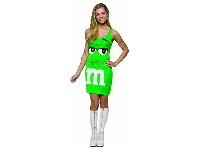 M&M Candy Green Tank Dress Costume Teen Teen 13-16