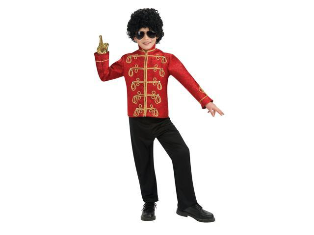 Michael Jackson Red Military Jacket Child Small