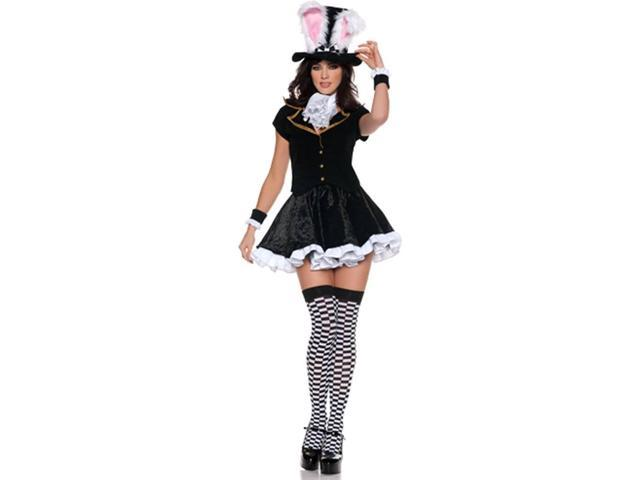 Alice In Wonderland Mad Hatter Girl Mini Dress Costume Adult Medium