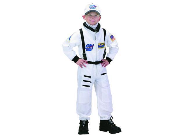 Jr Astronaut Suit (White) W/Cap Child Costume 4-6