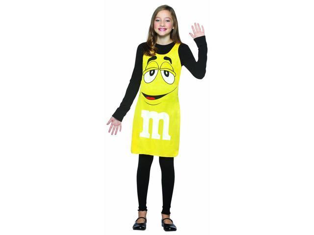 M&M Chocolate Candy Yellow Tank Dress Costume Tween Tween