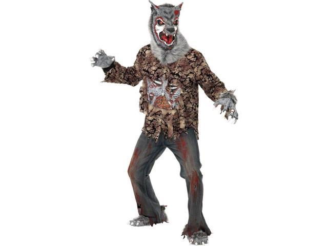 Scary Zombie Were Wolf Costume Adult Large Large
