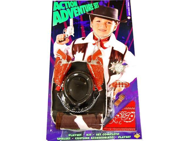 Action Adventure Cowboy Blister Child Costume Set One Size