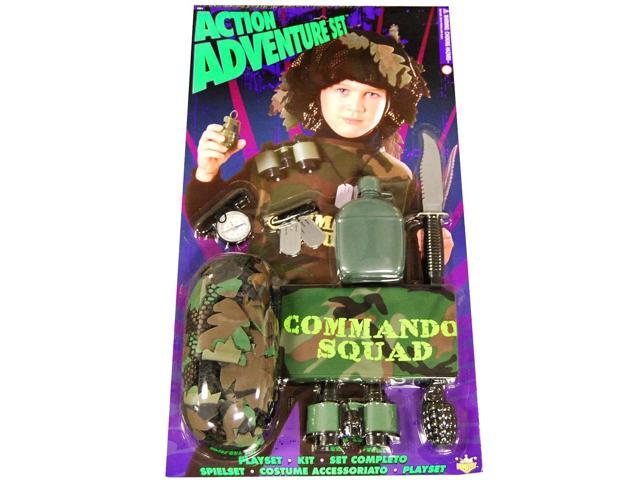 Action Adventure Commando Blister Child Costume Set One Size