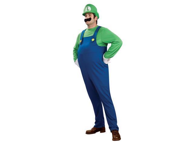 Super Mario Brothers Deluxe Luigi Costume Adult Plus Plus Size