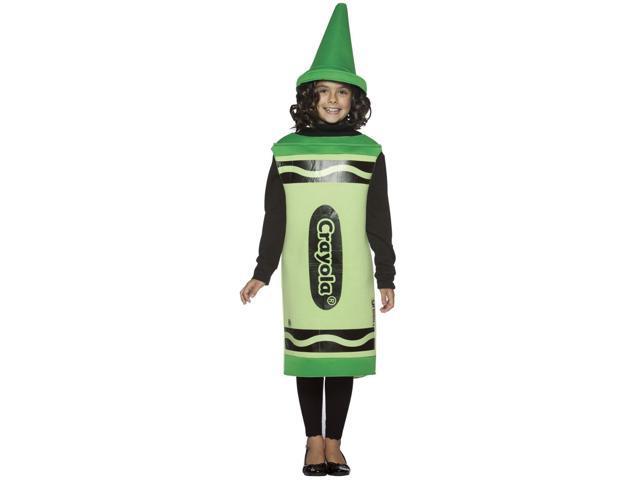 Green Crayola Crayon Child Costume 7-10