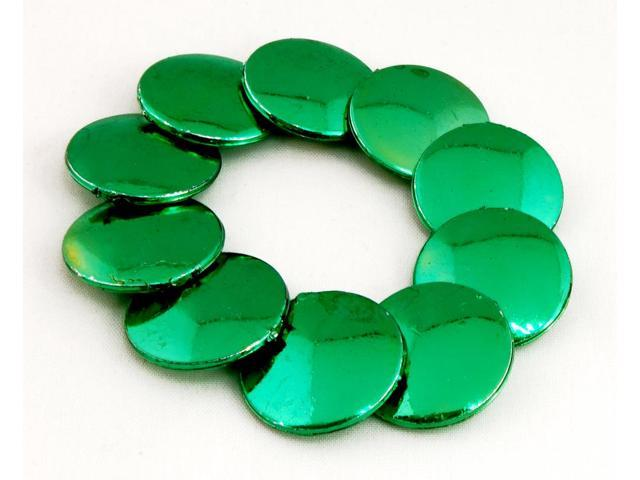 Luck 'O The Irish Green Discs Bead Bracelet