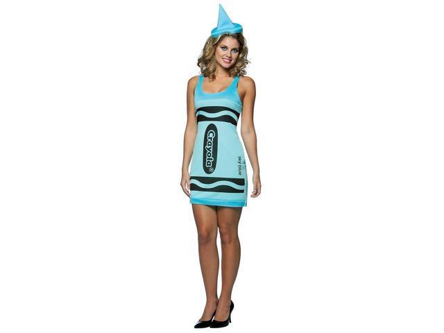 Sky Blue Crayola Crayon Tank Dress Costume Adult Standard