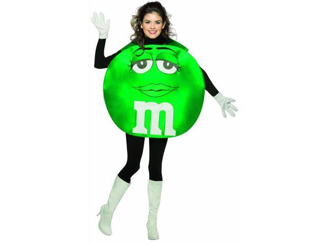 M&M Green Poncho Costume Teen Teen Standard