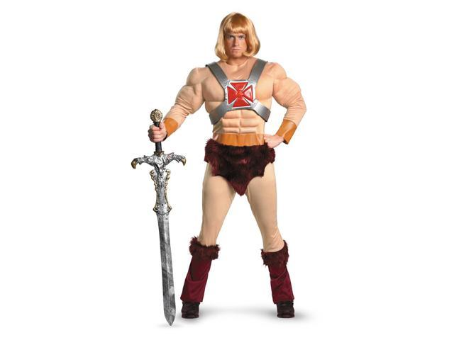 He-Man Classic Muscle Chest Jumpsuit Costume Adult X-Large 42-46