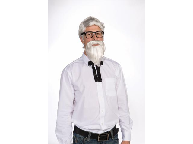 Southern Colonel White Costume Wig & Beard Set Adult One Size