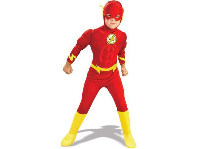 The Flash Deluxe Muscle Chest Toddler Costume Medium