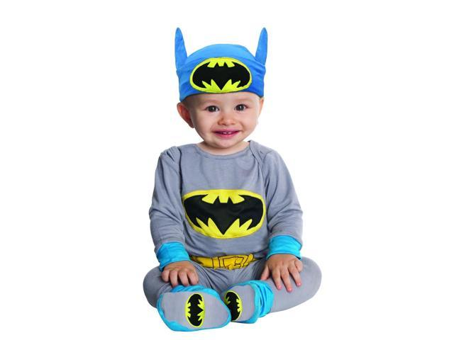 Batman Grey & Blue Onesie Costume Infant 6-12 Months