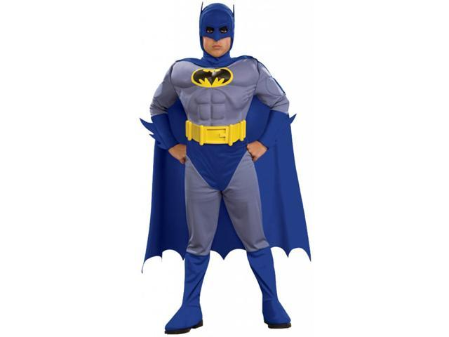 Batman Brave & Bold Deluxe Muscle Chest Batman Costume Toddler 2T-4T