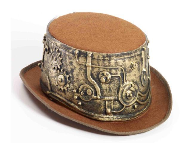 Deluxe Steampunk Adult Costume Top Hat One Size