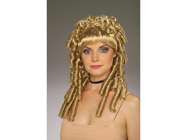 Little House Nellie Blonde Curly Adult Costume Wig