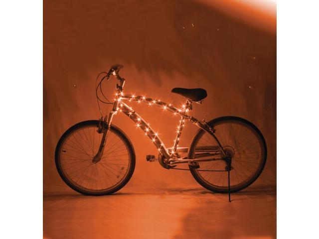 Cosmic Brightz LED Bicycle Light Accessory: Orange