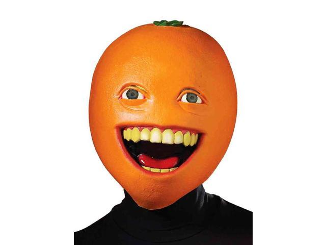 Annoying Orange Adult Costume Latex Mask One Size Fits Most