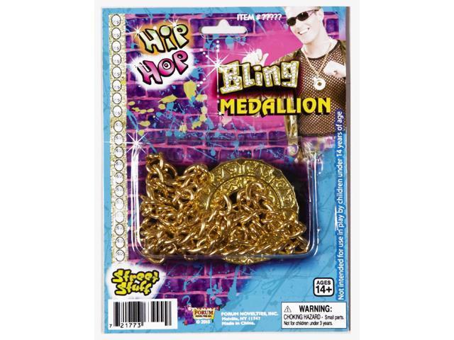 Hip Hop Bling Costume Necklace
