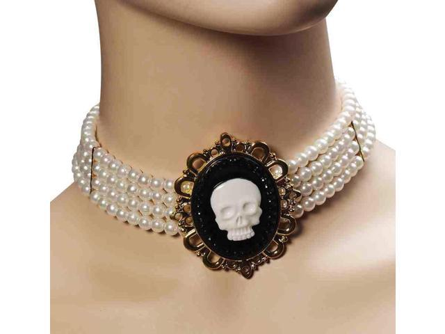 Pirate Wench Pear Cameo Choker Adult Costume Necklace One Size