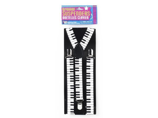 80's Style Keyboard Costume Suspenders Adult One Size