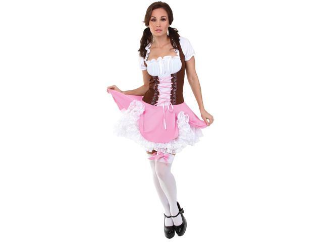 Swiss Bavarian German Heidi Costume Dress Adult Medium