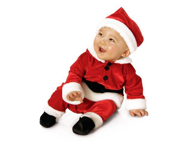 Velvet Santa Suit Baby Child Costume 2T-4T