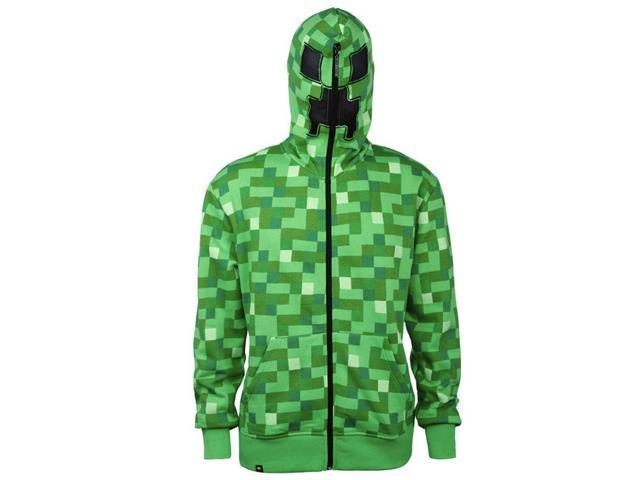 Minecraft Creeper Premium Adult Zip-Up Hoodie X-Large