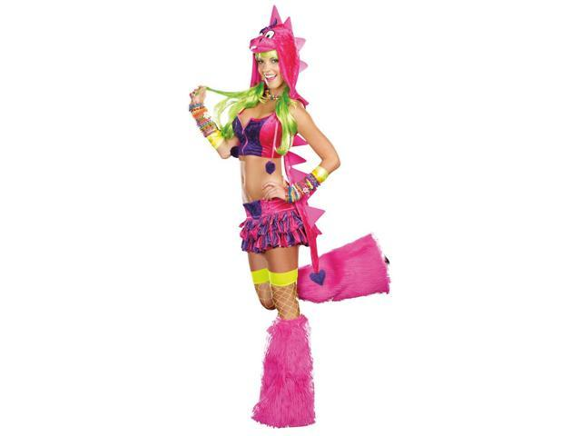Sexy Dino-D-Licious Neon Rave Costume Adult X-Large