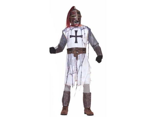 Evil Zombie Knight & Mask Costume Adult Standard