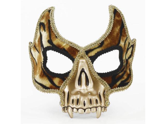 Mardi Gras Skull Face Venetian Costume 1/2 Mask