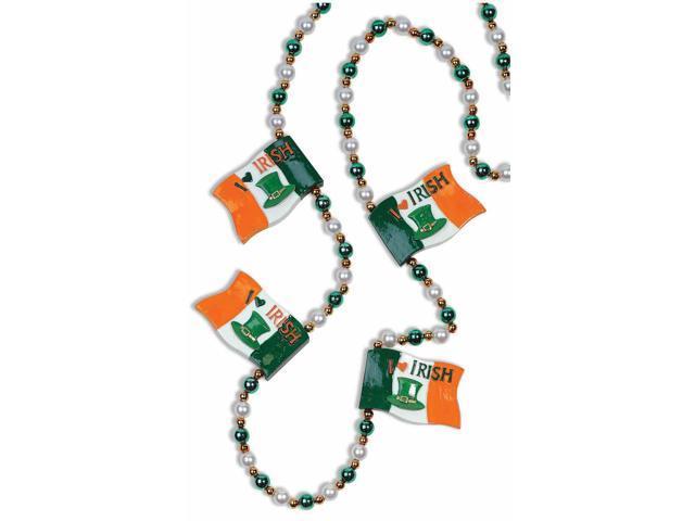 St. Patrick's Irish Flag Costume Jewelry Beads One Size