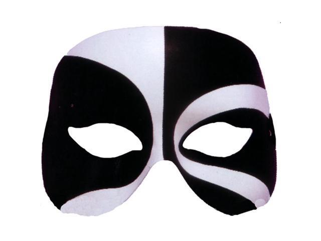 Black & White Voodoo Costume Eye Mask Adult Standard