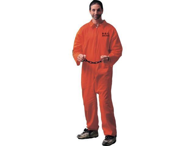 Jail Bird Convict Adult Costume