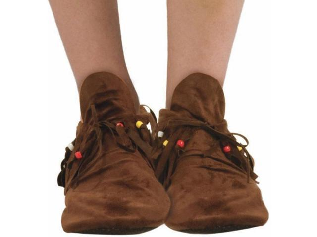 Native American Hippie Costume Moccasin Shoes Adult Men