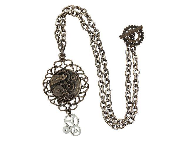 Steampunk Antique Butterfly Gears Costume Necklace Adult One Size