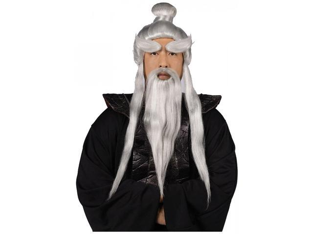 Sensei Costume Wig & Beard Set