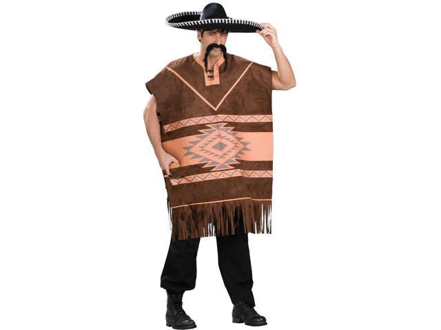 Mexican Poncho Adult Costume Standard