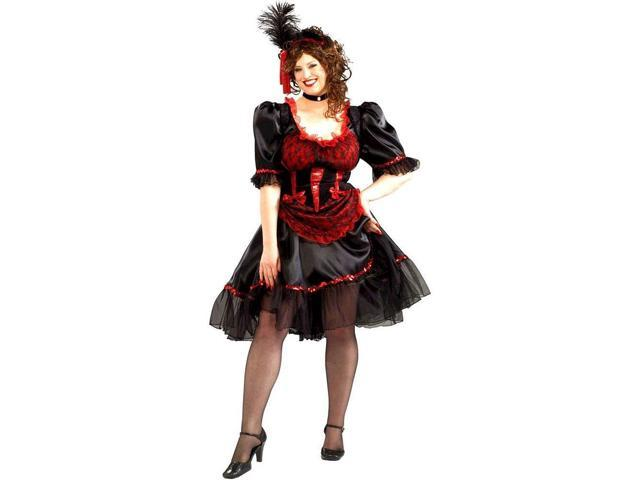 Western Saloon Girl Costume Adult Plus Plus