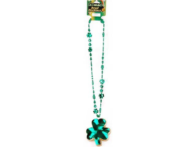 St Patricks Day Jumbo Shamrock Costume Necklace