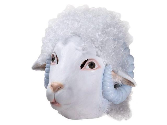 Adult Deluxe Latex Animal Costume Mask - Sheep