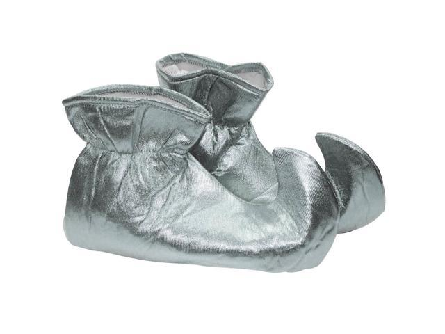 Christmas Elf Cloth Costume Shoes: Silver One Size Fits Most