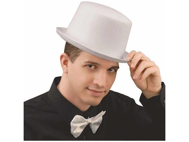 White Felt Costume Top Hat Adult Standard