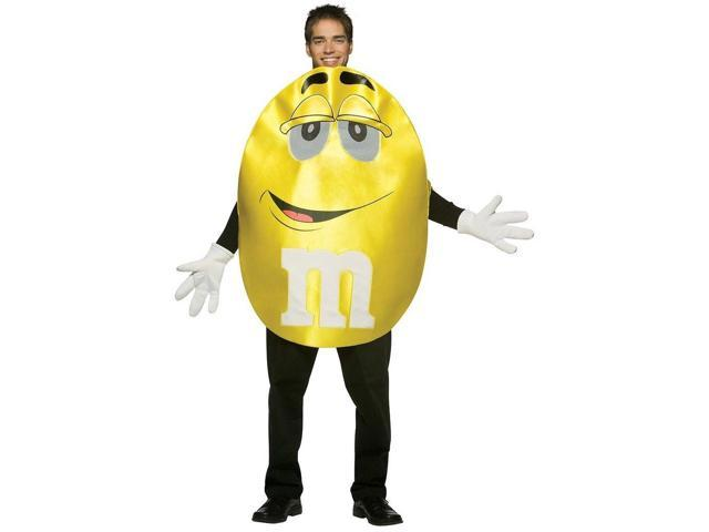 M&M Yellow Deluxe Costume Adult Standard