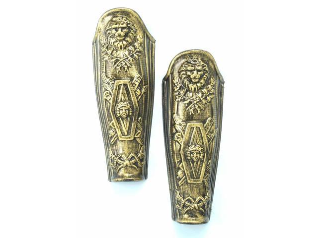 Deluxe Gold Roman Leg Armor Adult Costume Accessory
