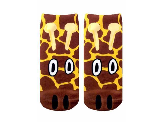 Giraffe Photo Print Ankle Socks