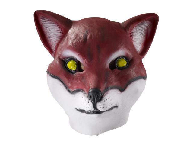 Deluxe Latex Animal Mask Adult: Red Fox One Size
